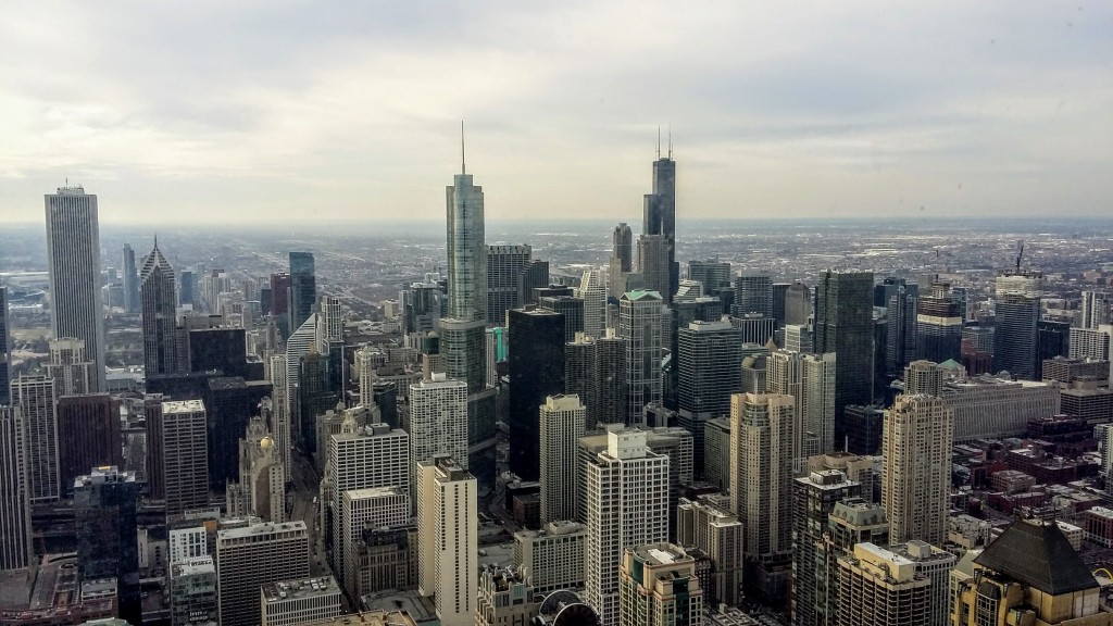 Chicago Skyline on a cloudy day