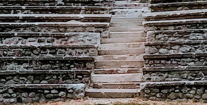 stone staircase in ampitheater