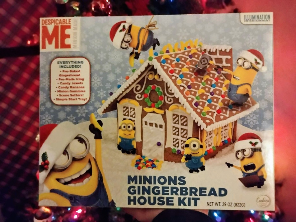 Minion Gingerbread House Box Kit